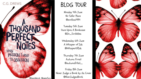 A Thousand Perfect Notes by C. G. Drews Blog Tour Banner