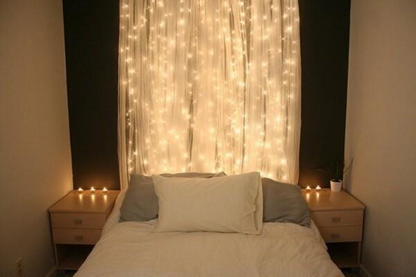 Beautiful Bedroom Christmas Lights
