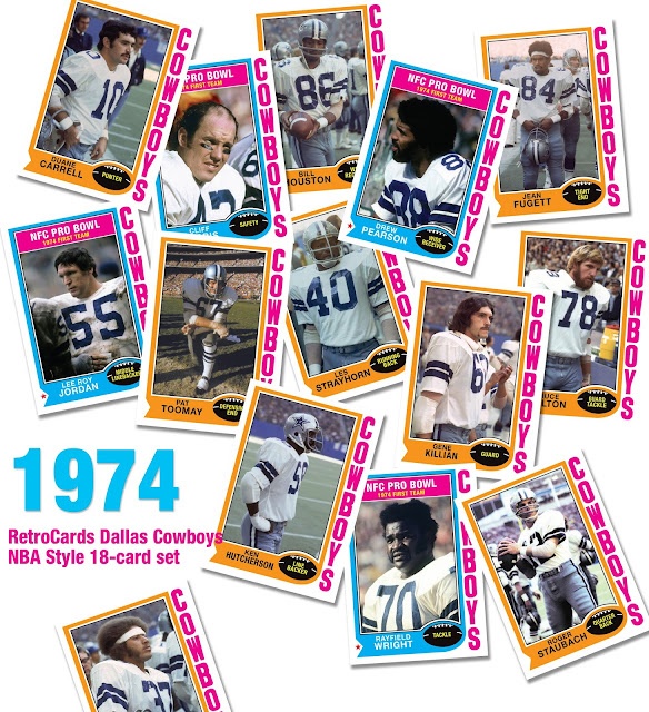 Topps RetroCards custom cards that never were Dallas Cowboys