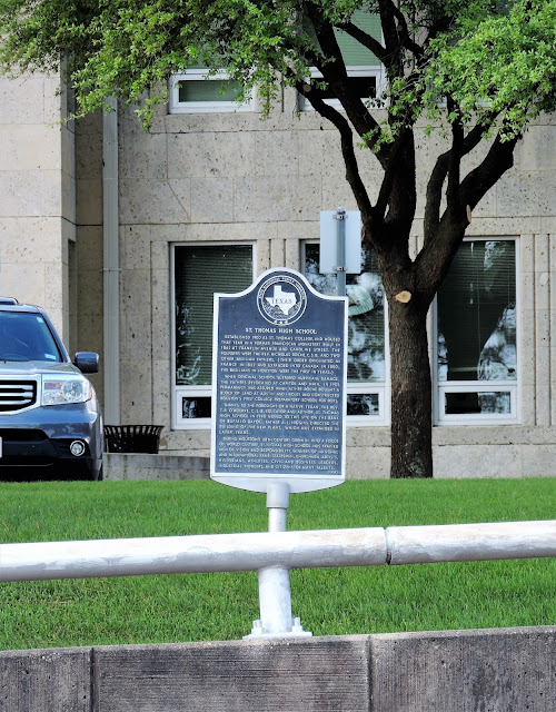 St. Thomas High School Texas Historical Commission Marker