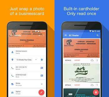 Best free business card scanner apps for android business card reader free reheart Images