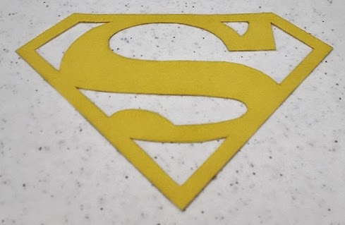 Attaching the super hero logo patch - step 4