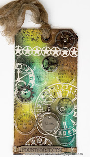 Layers of ink - Recycled Time Tag