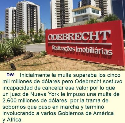 Odebrecht negocia con la justicia de EE. UU.