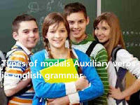 types of modals Auxiliary verbs in english grammar