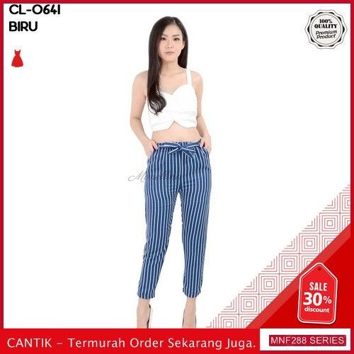 MNF288C75 Celana Cl Wanita 0641 Salur Pensil Model 2019 BMGShop