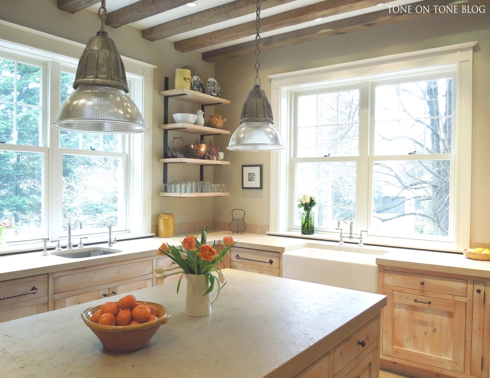 Tone on Tone: French Style Family Kitchen