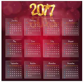 2017カレンダー無料テンプレート22