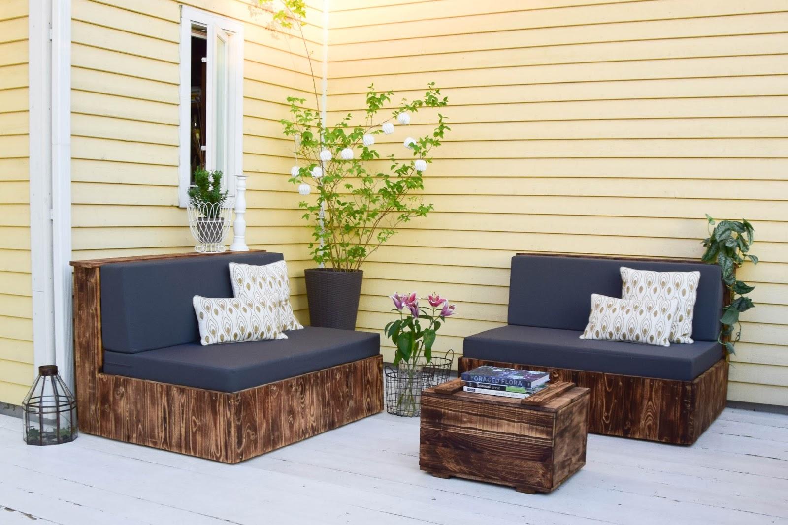 DIY mit Paletten Terrasse selbst gebaut,Terrasse selber bauen, selbermachen