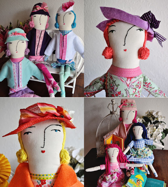 Sharon Rohloff, Pink Ginger Kitty, Handmade Dolls