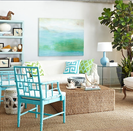 Wisteria blue living room decor