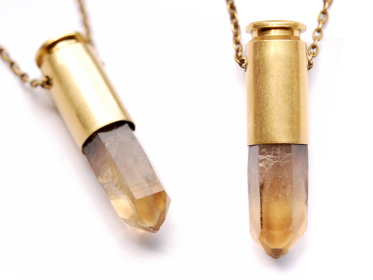 diy bullet shell casing necklace dans le lakehouse
