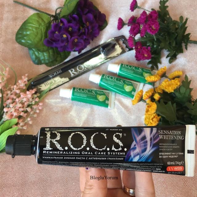 rocs sensation whitening beyazlatıcı diş macunu incelemesi 1