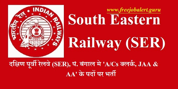 Railway Recruitment Cell, South Eastern Railway, RRC, SER, West Bengal, Railway, Railway Recruitment, Clerk, Latest Jobs, southern railway logo