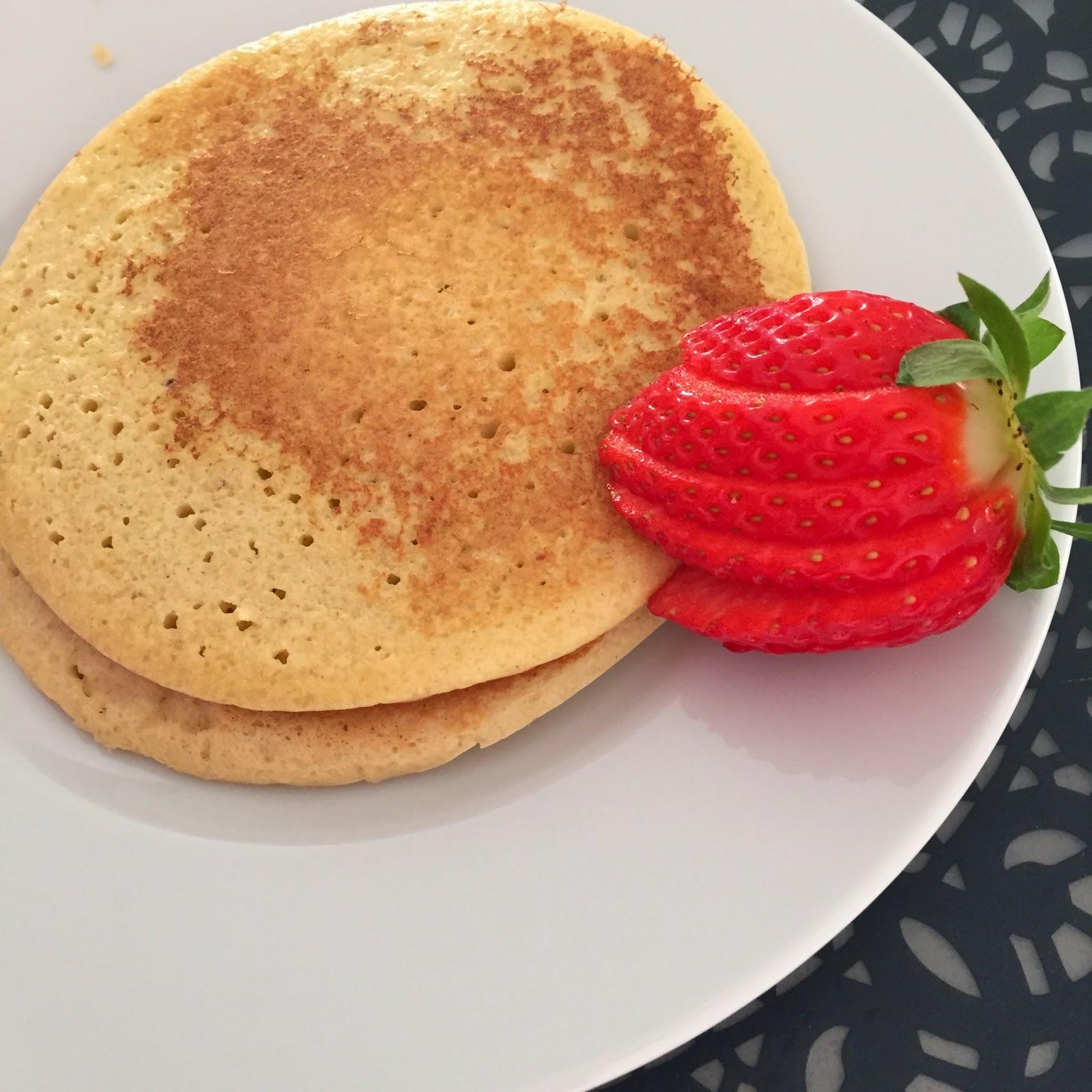 panquecas almendra, tortitas almendra, almond pancakes