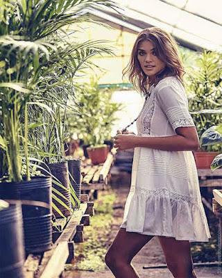 vestido blanco corto de primavera tumblr casual de moda