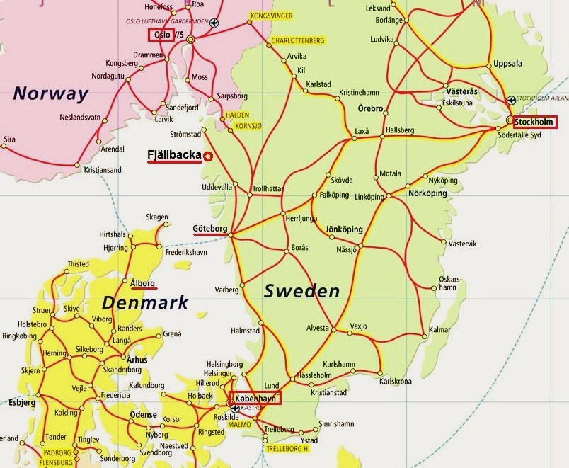 Map sweden denmark denmark sweden map gumiabroncs Gallery