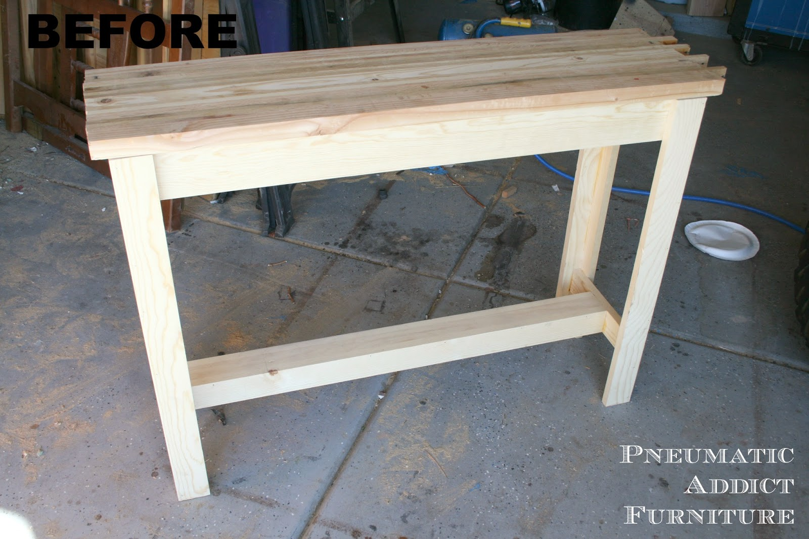 Unfinished wood sofa table teachfamilies pneumatic addict butcher block sofa table unfinished geotapseo Choice Image