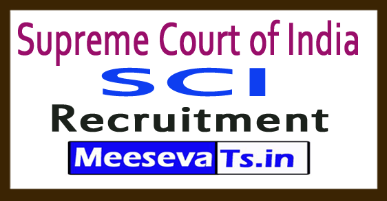 Supreme Court of India SCI Recruitment