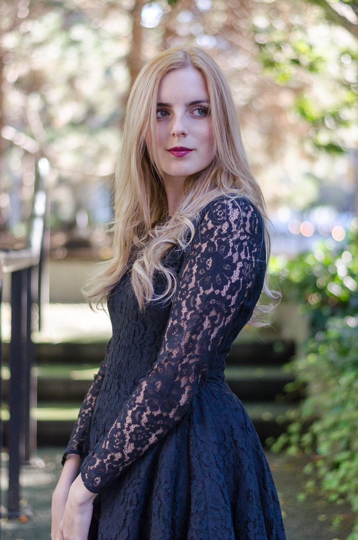 Black Lace Long Sleeve H&M Dress