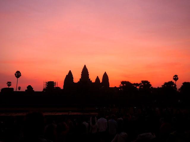 Sunrise at Angkor Wat, Angkor temples, Cambodia