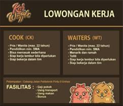 Lowongan Kerja Cook dan Waiters di Karwaffle