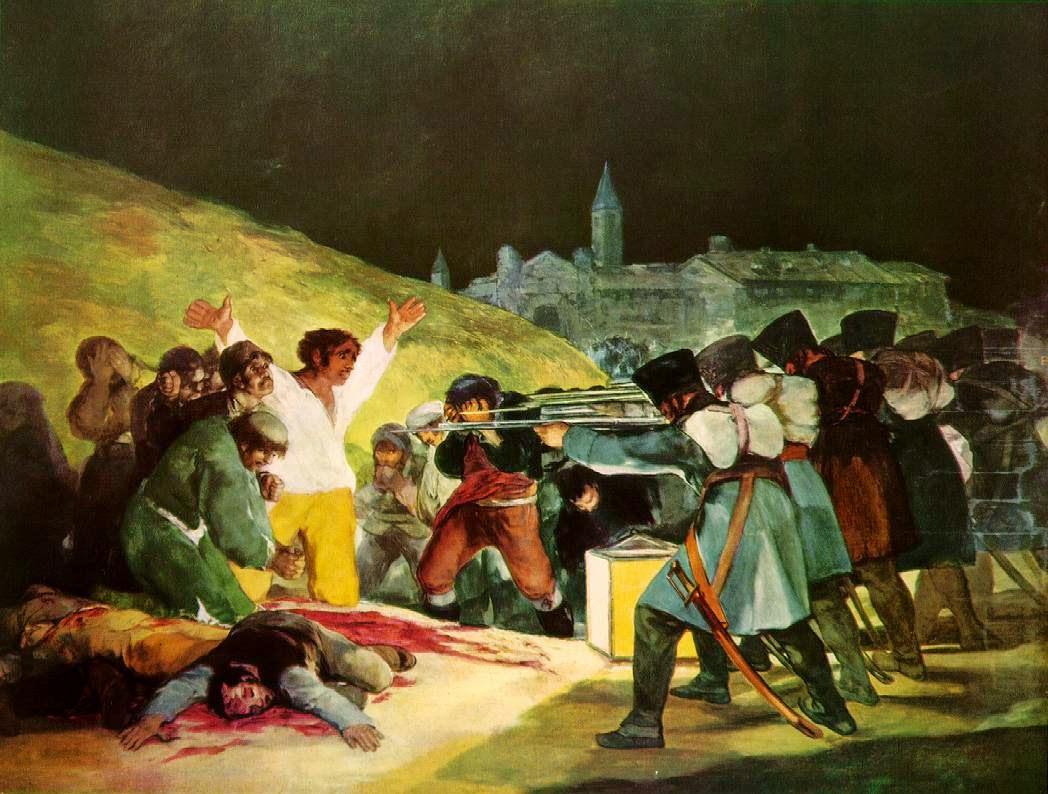 Os Tiroteios de Maio de 1808 - Goya, Francisco e suas pinturas ~ Foi um importante pintor espanhol da fase do Romantismo