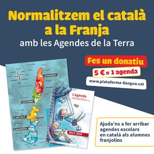 normalitzar, català, franja, agendes, escolars