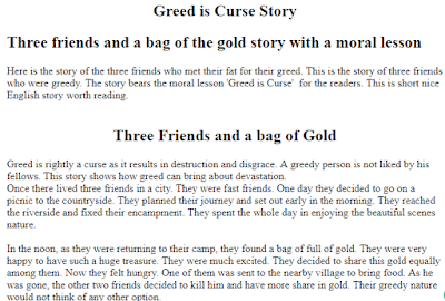 Greed is curse story of three friends and gold