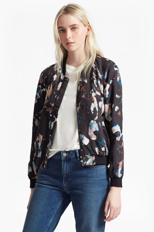 143a2782eb58a Eco Fashion Chic: Eco-Friendly Lyocell Bomber Jacket in Artful Print