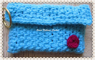 free crochet credit card holder, free crochet small coin purse pattern,
