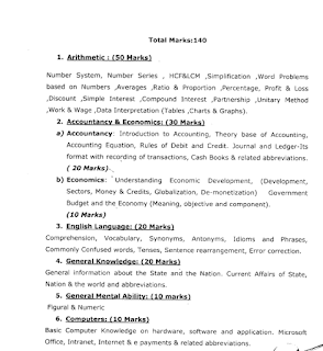 Exam Syllabus for Accounts Clerk, Junior StoreKeeper Jobs in Sikkim Public Service Commission.png