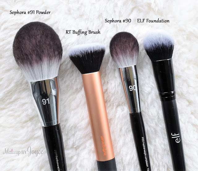 Sephora Collection Pro Featherweight Brush Comparison Review Real Techniques Buffing Dupe 90 Complexion