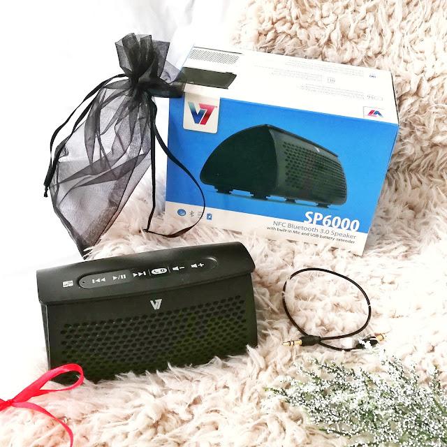 Muza głośno gra | Bezprzewodowy głośnik bluetooth V7 SP 6000 | 4gsm