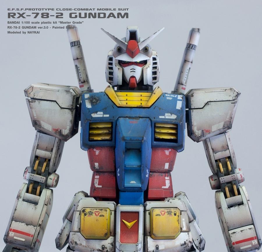 Custom Build: MG 1/100 RX-78-2 Gundam Ver. 3.0 + LED