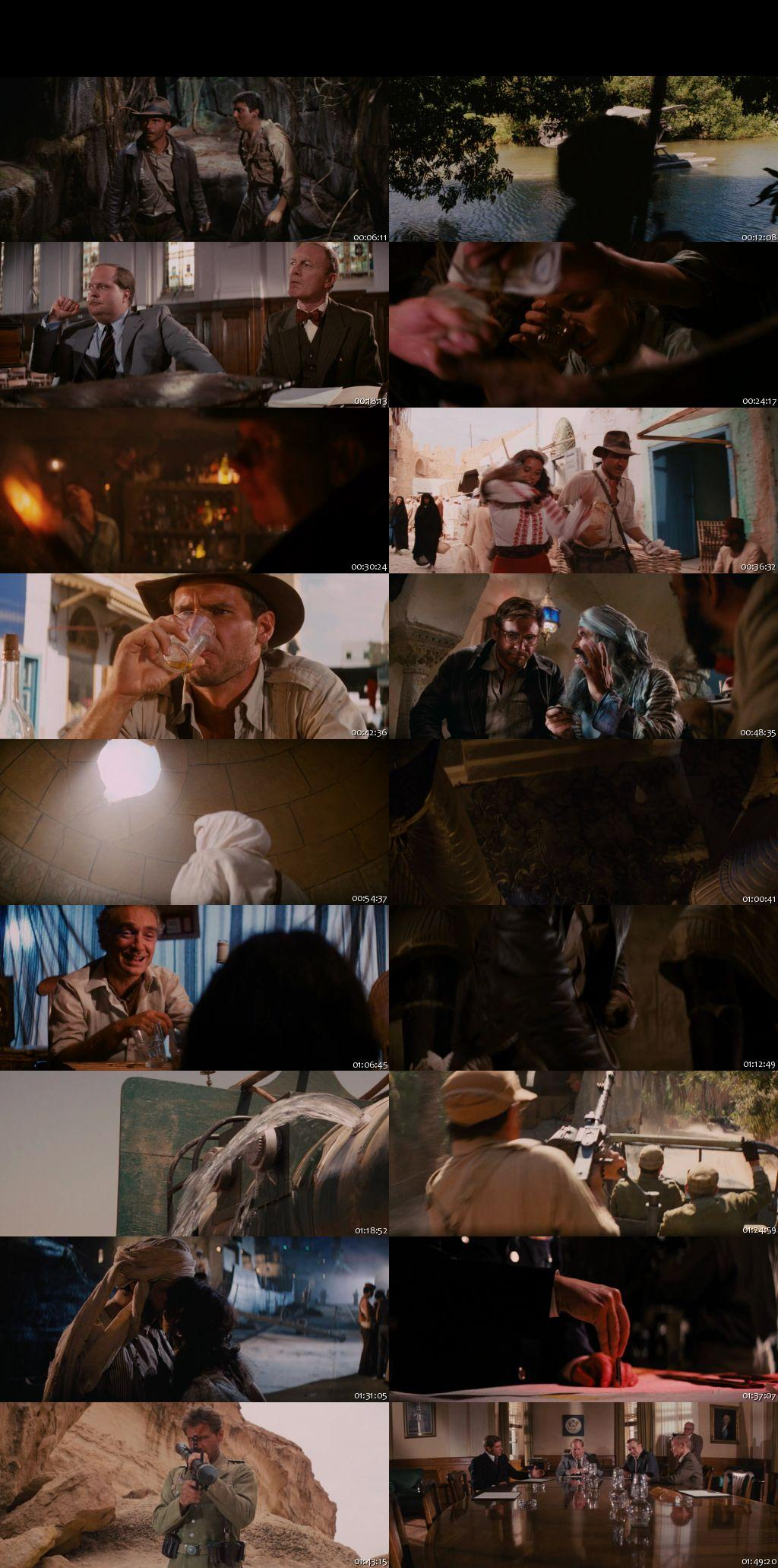 Screen Shot Of Indiana Jones 1 1981 300MB Full Movie Hindi Dubbed Free Download 480P BRRip Small Size PC Movie