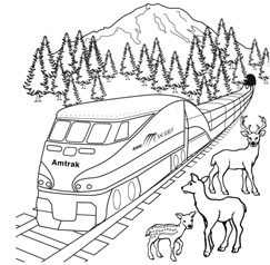 coloring book pages for trains | Coloring Transportation For Toddlers