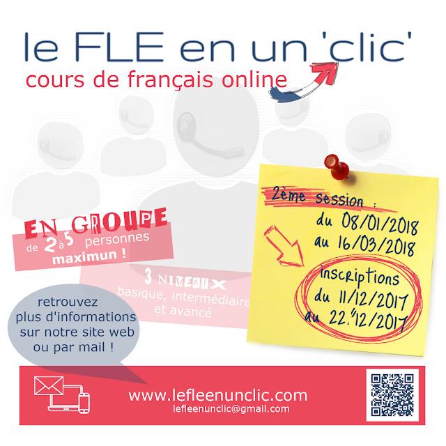 cours de français, cours de français online, FLE, le FLE en un 'clic'