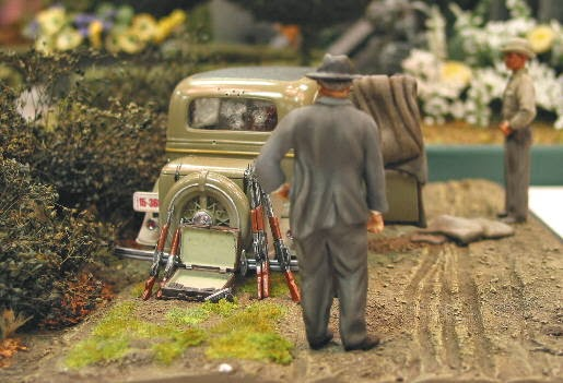 Bonnie & Clyde Death Scene in 1:25th Scale