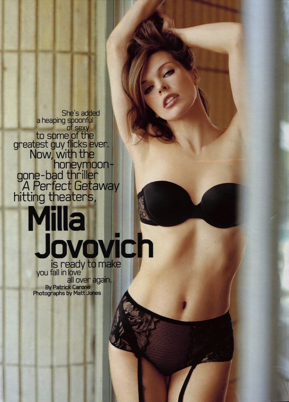 Milla Jovovich Ungeschminkt