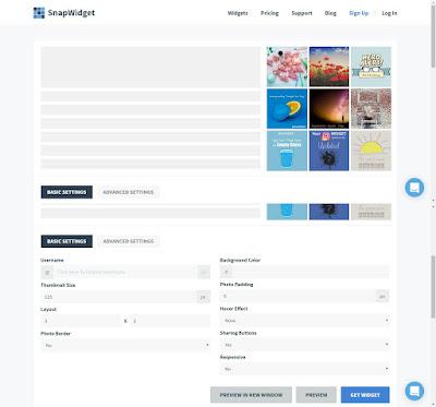 Cara Memasang Instagram Widget Di Blog Sidebar