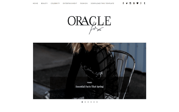 Oracle Free Blogger Template