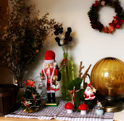 玄関クリスマス飾り