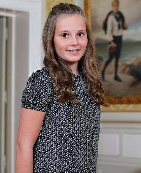 Crown Princess Mette-Marit her daughter Princess Ingrid-Alexandra celebrates 13th birthday
