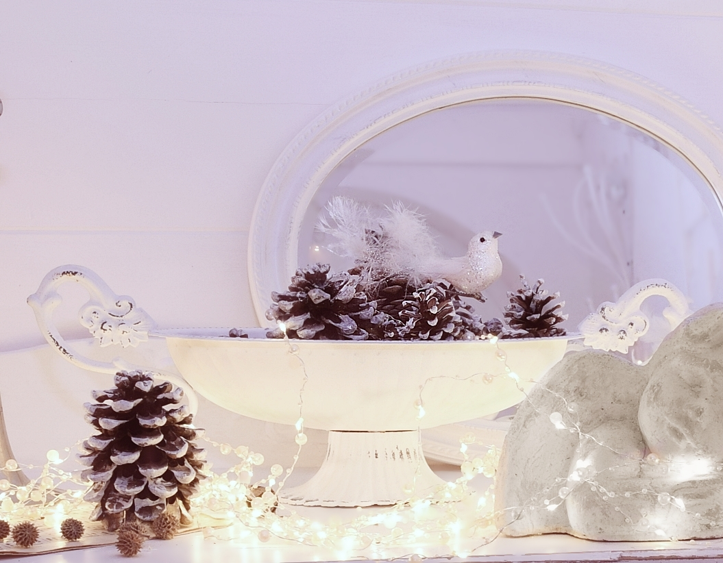 Sterreichische blogger christmas hometour white and vintage - Vintage weihnachtsdeko ...