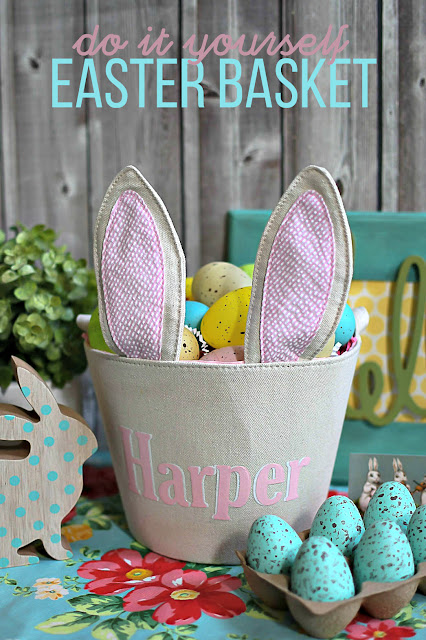 Personalized Easter Basket with Heat Transfer Vinyl
