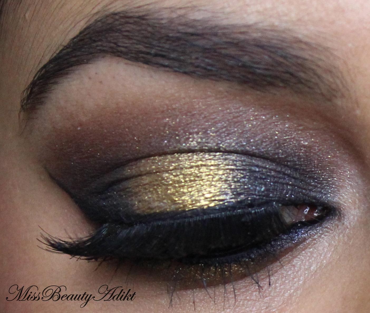 M I S S B E A U T Y A D I K T Black Amp Gold Smokey Eye Makeup