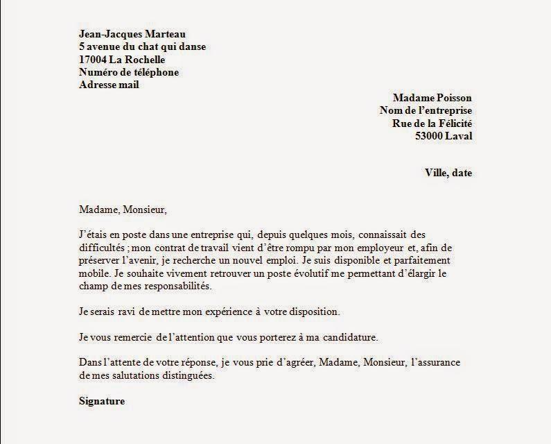 Modele Lettre Fin De Periode D Essai Par L Employeur