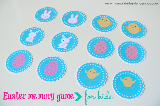 Printable memory game easter special