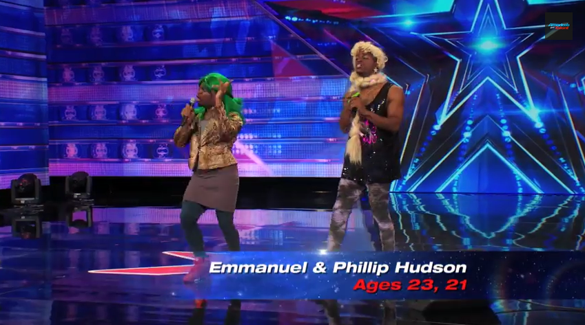 "The Hudson Brothers' performance on impersonating ""Ratchet Girls"" on America's Got Talent Season 9"